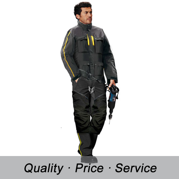 Workwear Welder Maintenance Uniform Coverall With Knee Pading