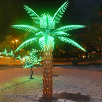 H:3m green leaves led artificial palm trees sale