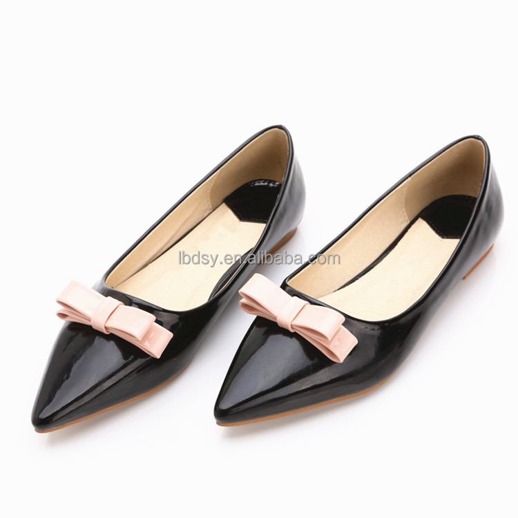Low price and fashion young lady flat shoes experienced shoe factory guangzhou