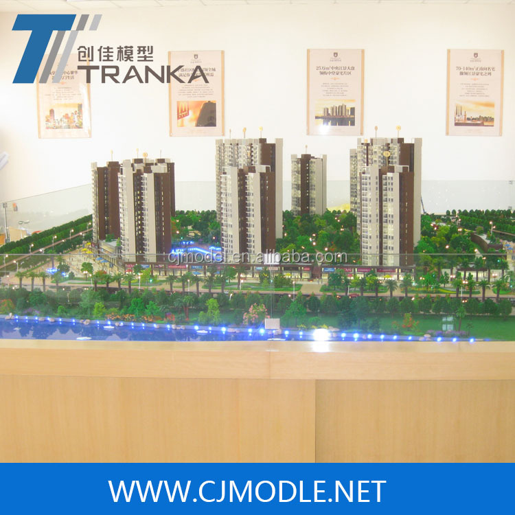 New product building model for apartment building / architectural scale model maker