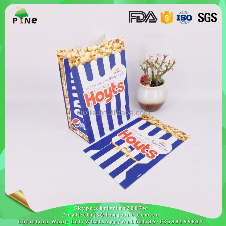 Multi Color Option Factory Fashion Popcorn Recycled Paper Bags