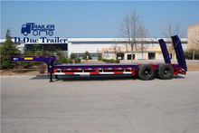 High quality low loader trailer 2 axles 20ton low loader trailer