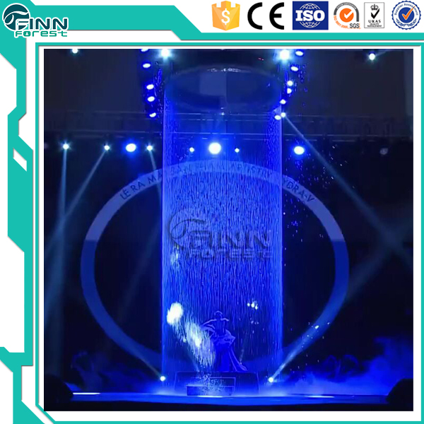 Pictures drawing and word drawing graphical water curtain