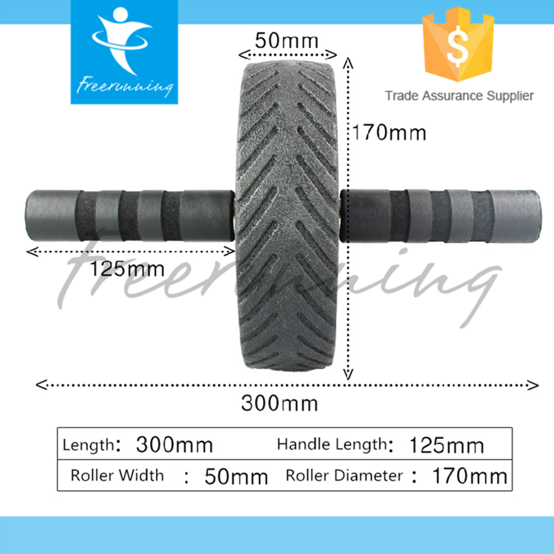 Wholesale AB Black Plastic Roller Exercise Wheel