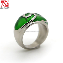 Fashion Jewellry Stainless Steel Wedding Rings Men Women Couple Enamel Rings 6 Colors BHR00121