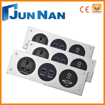 CE approval wall outlet with different modules