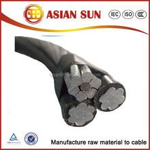 PVC / XLPE/ PE Insulated Overhead Electric Transmission Aerial Bundled Cable