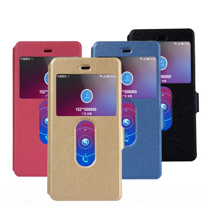 Flip View PU Leather Stand Cover Case For ZTE Nubia Z9 Max