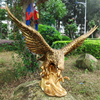 Garden Park Decoration Golden Life Size Bronze Eagle Hunting Sculpture
