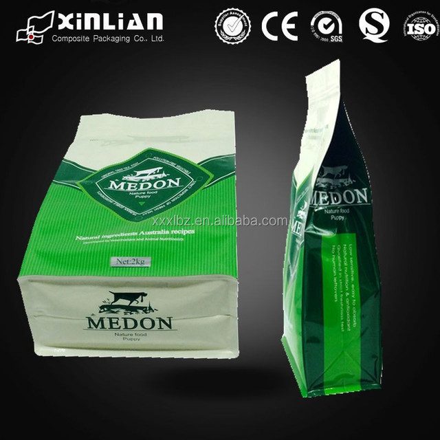 Biodegradable plastic stand up pouch fast food packaging