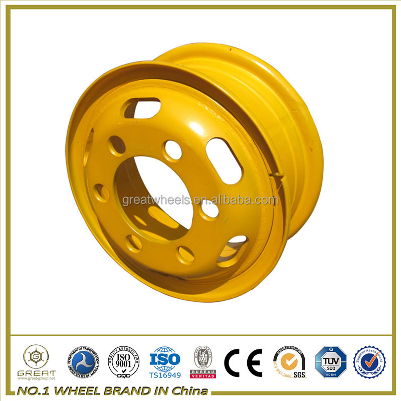 yellow and white spoke truck wheels