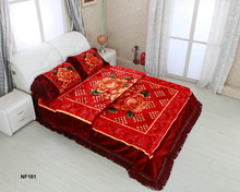 China low price products comforter 7.5kg 100% polyester 4pcs bedding sets