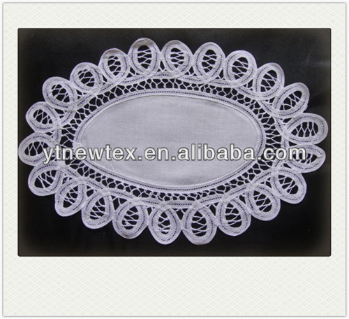 handmade lace placemats made in china