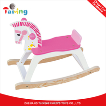 2017 new kids Wooden Rocking Horse toy
