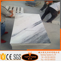 Competitive Price italian white grey marble ,white marble floor tile