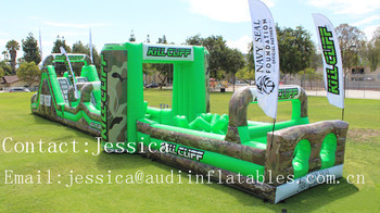 Ultimate Survivor Challenge inflatable obstacle course- Kill Cliff for sale