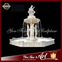 Hand Made Hot Sale Marble Water Fountain With Statues