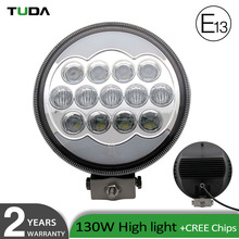Super Bright 13000LM High Power 130W Led Searchlight Waterproof Angel Eyes 9inch Wholesale Off Road Led Work Light