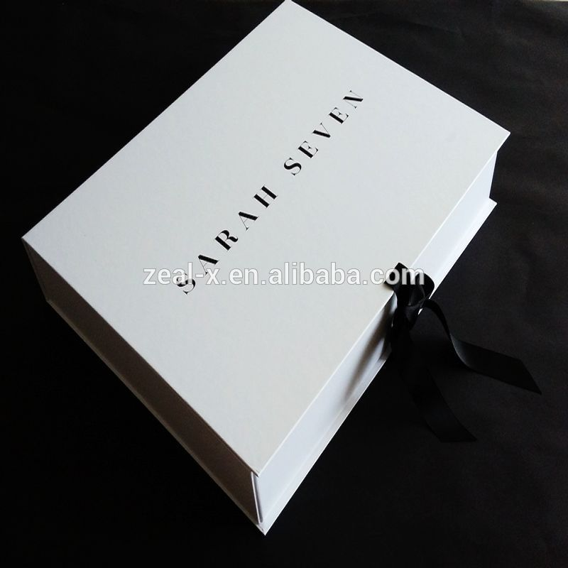 Us 500 cash coupon luxury germany customized folding white for Boxes for wedding dresses