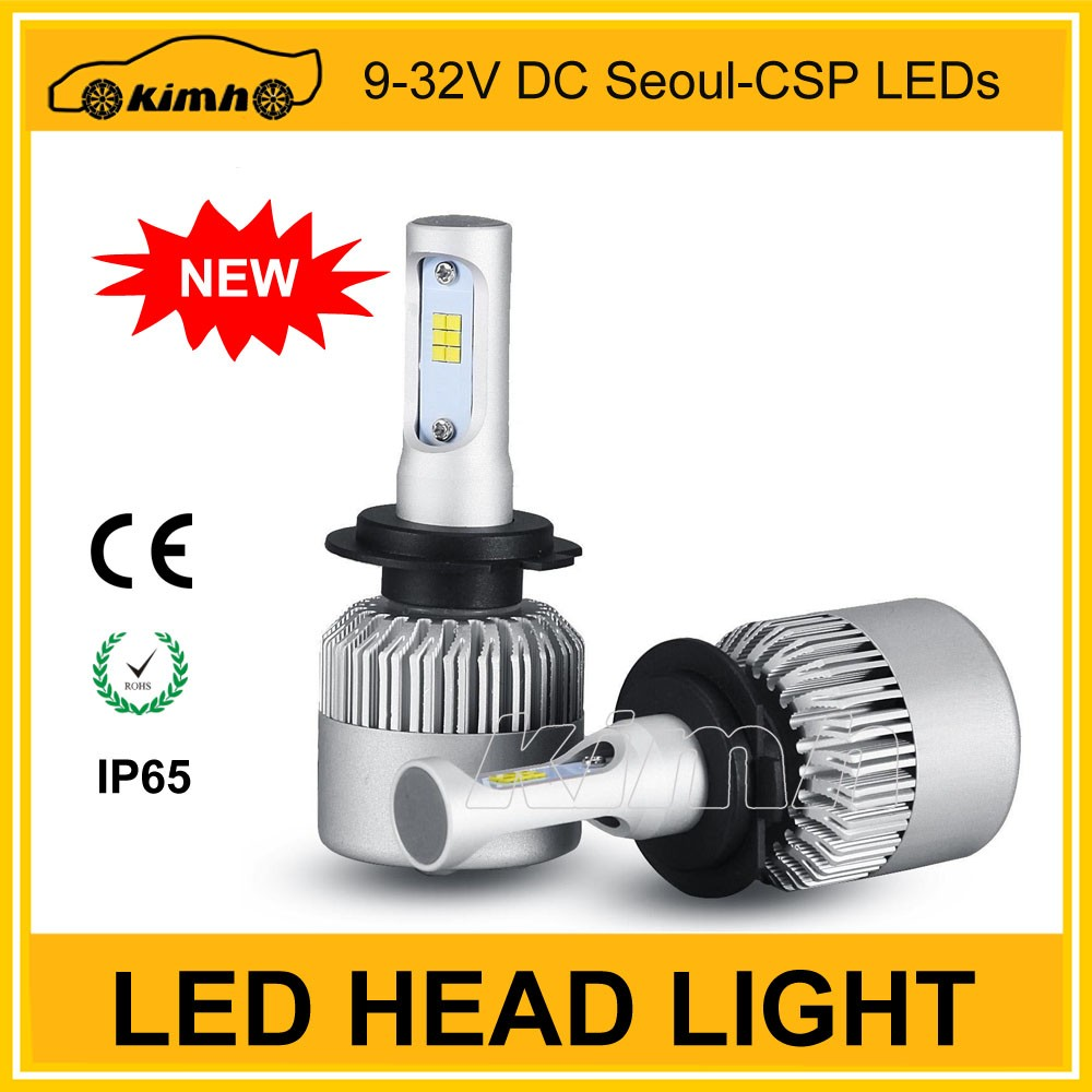 factory price S2 led bulbs 50w 8000lm H4 H7 9004 9005 9006 9007 led headlight kit headlight led h4
