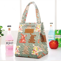 Convenient resuable eco-friendly 10oz cotton canvas lunch cooler tote bag