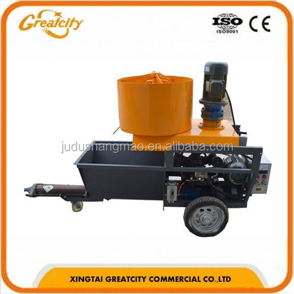 Hot selling Wall cement spray plaster machine/Wall spray plastering machine/Wall cement wet sand plastering spray machine