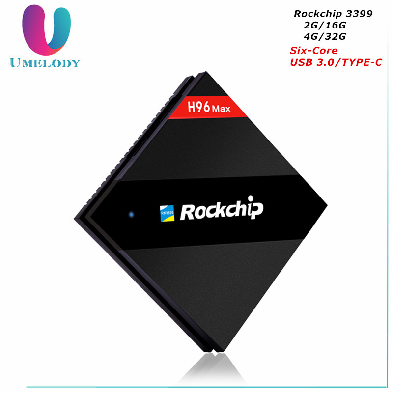 H96 Max 4GB 32GB Rockchip RK3399 Six Core Android TV Box 2.4G/5.8G Dual WiFi H.265 BT4.0 H.265 4K*2K USB3.0 Type-c Media player