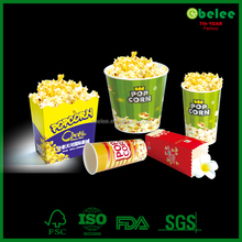 disposable cinema printed food paper popcorn box