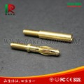 High Quality Brass Gold Plated 4mm Banana Plug with Thread Form