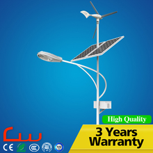 100W mono solar panel wind LED street light price list with 3 blades
