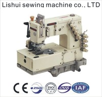 DLR-1508P 1-4 needle flat-bed double chain stitch machine with horizontal looper movement mechanism