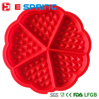 Family Silicone Waffle Mold Maker Pan Microwave Baking Cookie Cake Muffin Bakeware Cooking Tools Kitchen Accessories Supplies
