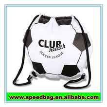 Football match promotional gift drawstring bag football shaped bag football bag