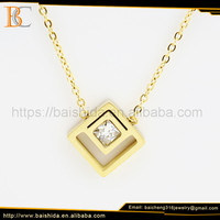 Jewelry Fashion Crystal Charms Necklaces Stainless
