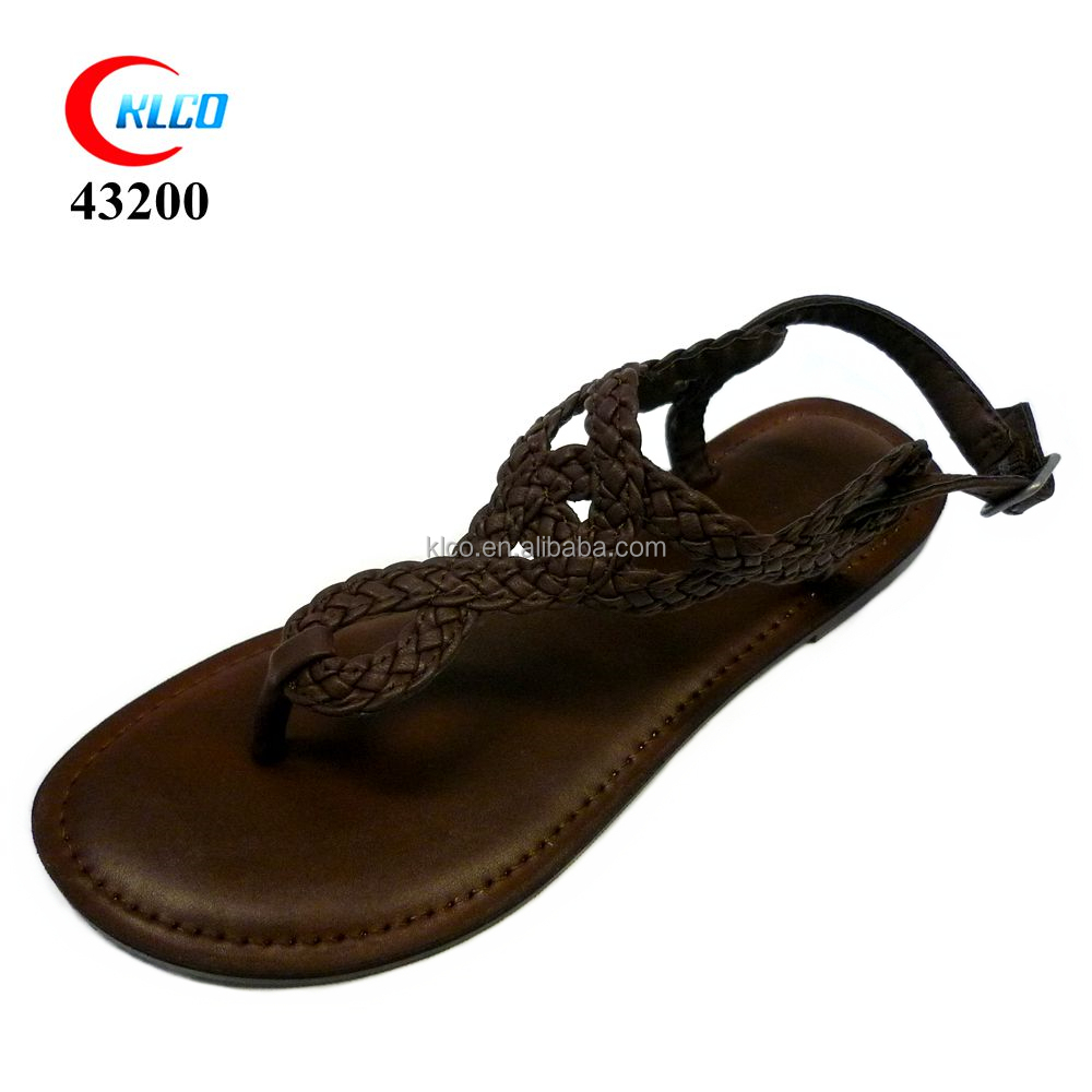 nice design ladies fancy flat sandals
