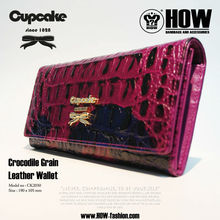 SS Cupcake Genuine Crocodile Grain Leather Wallet