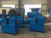 Huahong rubber grinding machine/ waste tyre recycling equipment with large capacity and easy control