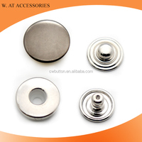Nickel free wholesale custom logo engraved metal snap buttons for clothing