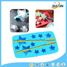Wholesale star shape silicone ice mold/silicone popsicle mold