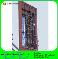 Wrought Iron Window Grill Panels Design
