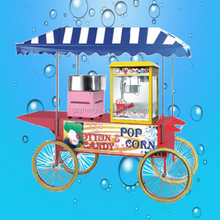 Hot sales snack sale food cart,popcorn/candy cart for sale,street food kiosk cart for sale ZQ