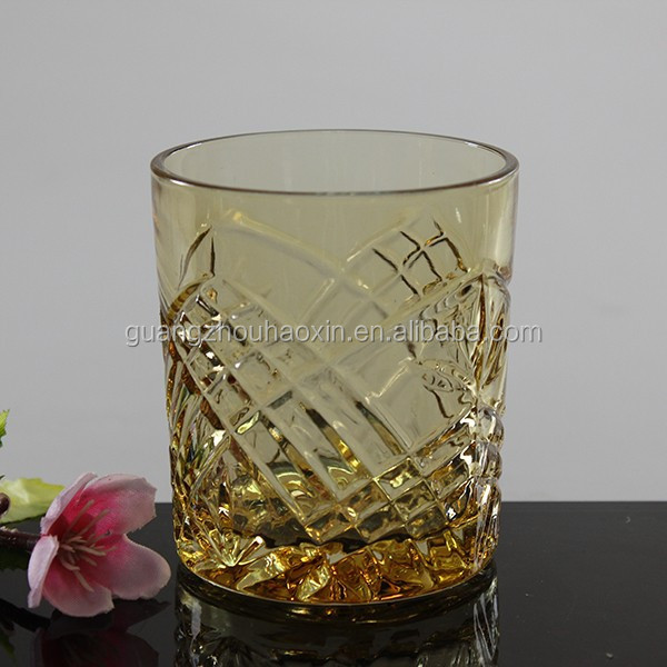 China manufacture colourful drinking glass whisky cups