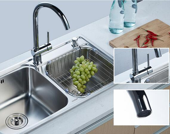 360 degree swing flexible LC982019K Copper Italian style kitchen faucet