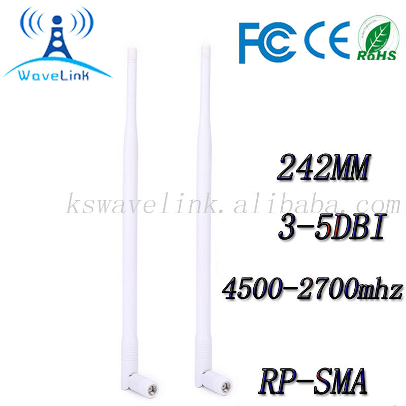 White 400mhz Indoor Omni whip Router Antenna For 3G 4G LTE Router