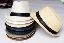 Fashion Men Jazz Caps Women Fedora Hat Summer Hats for Women Beach Floppy Panama Sun Cap Straw Hat