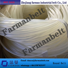 transparent seamless pu round belt