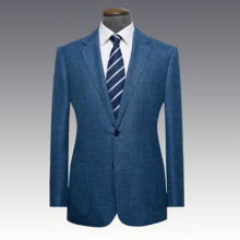 <strong>Men's</strong> new style Notch Lapel wool/silk blend blue two buttons man <strong>jacket</strong>