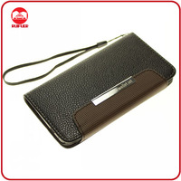 Wholesale Price Black Flip Wallet Pouch Case for HTC ONE M7