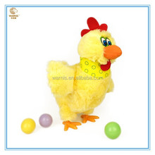 Plush toys chicken laying eggs / Plush Toys Manufacturer custom funny toy chicken lays eggs