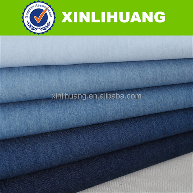 High Quality Light Weight Blue 6oz 100% Cotton Denim Shirting Fabric